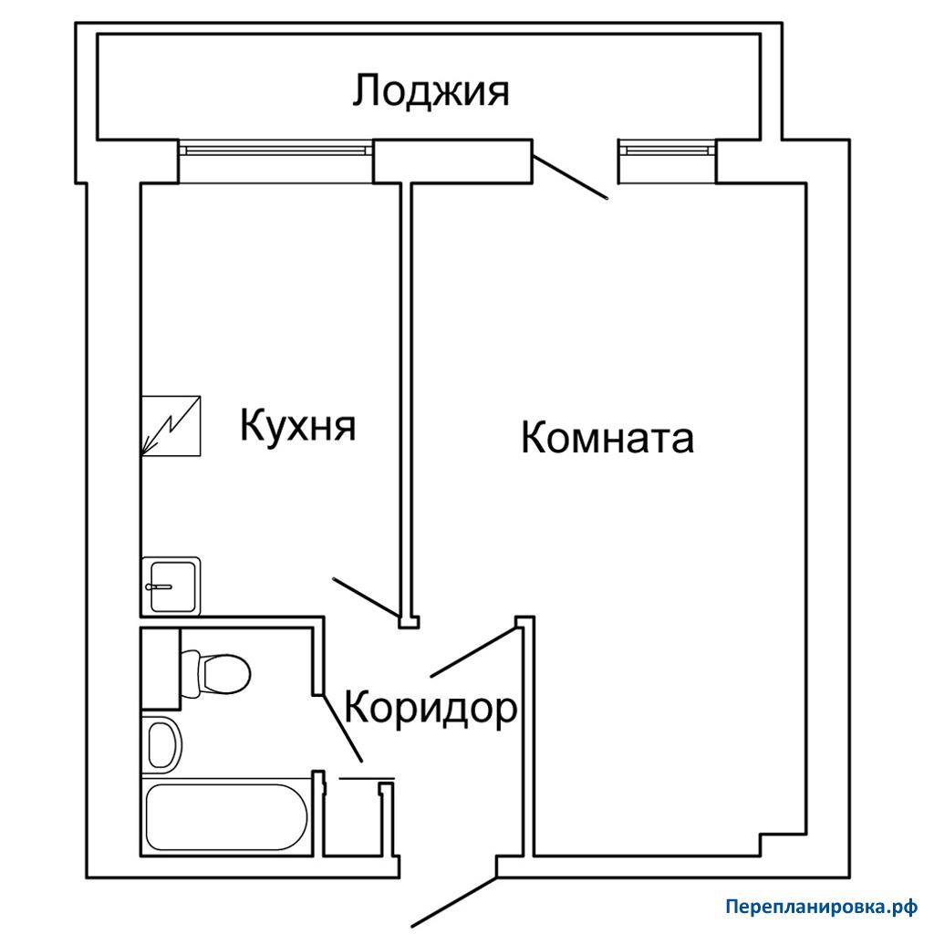 Планировка однокомнатной квартиры и-209а. варианты переплани.