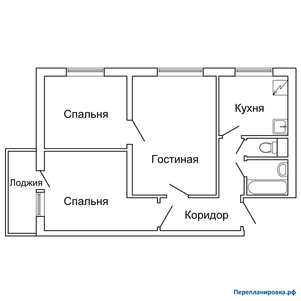 Перепланировка 3 трехкомнатной квартиры ii-49, варианты.