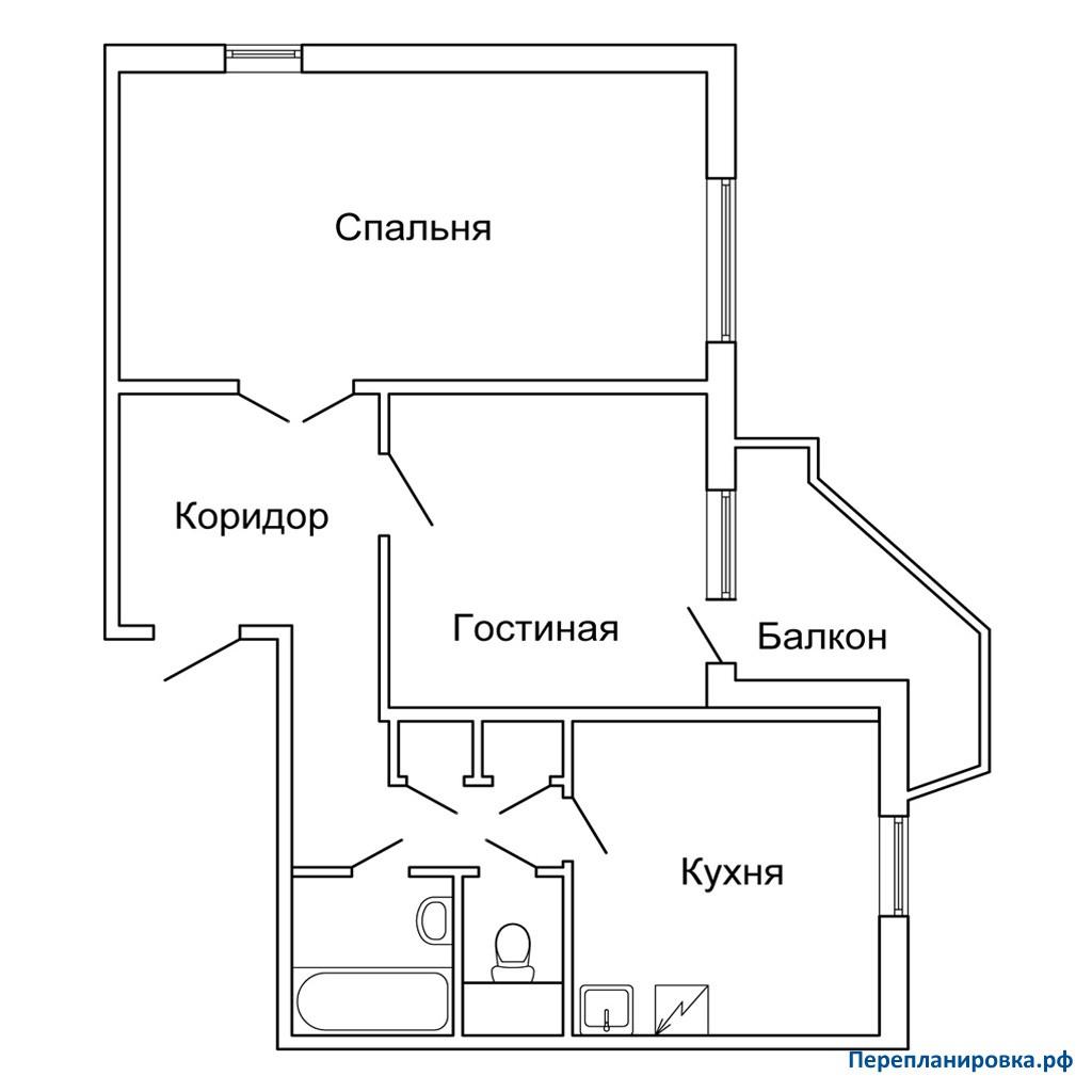 Перепланировка двухкомнатной квартиры пд-4, схема, фото.