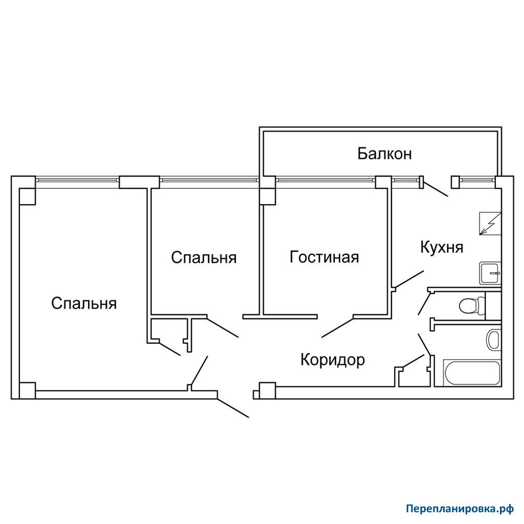 Размер лоджии в доме мг-601.