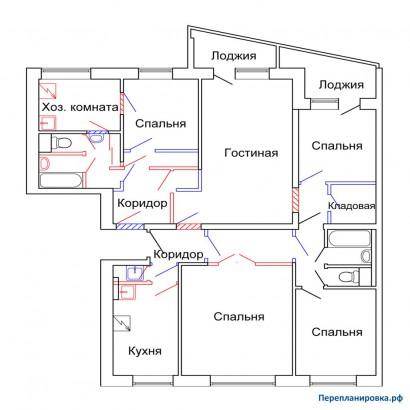 Размер балкона в серие дома 1-515 юл.
