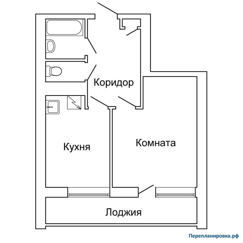 Перепланировка 4 однокомнатной квартиры ii-68, план, фото.