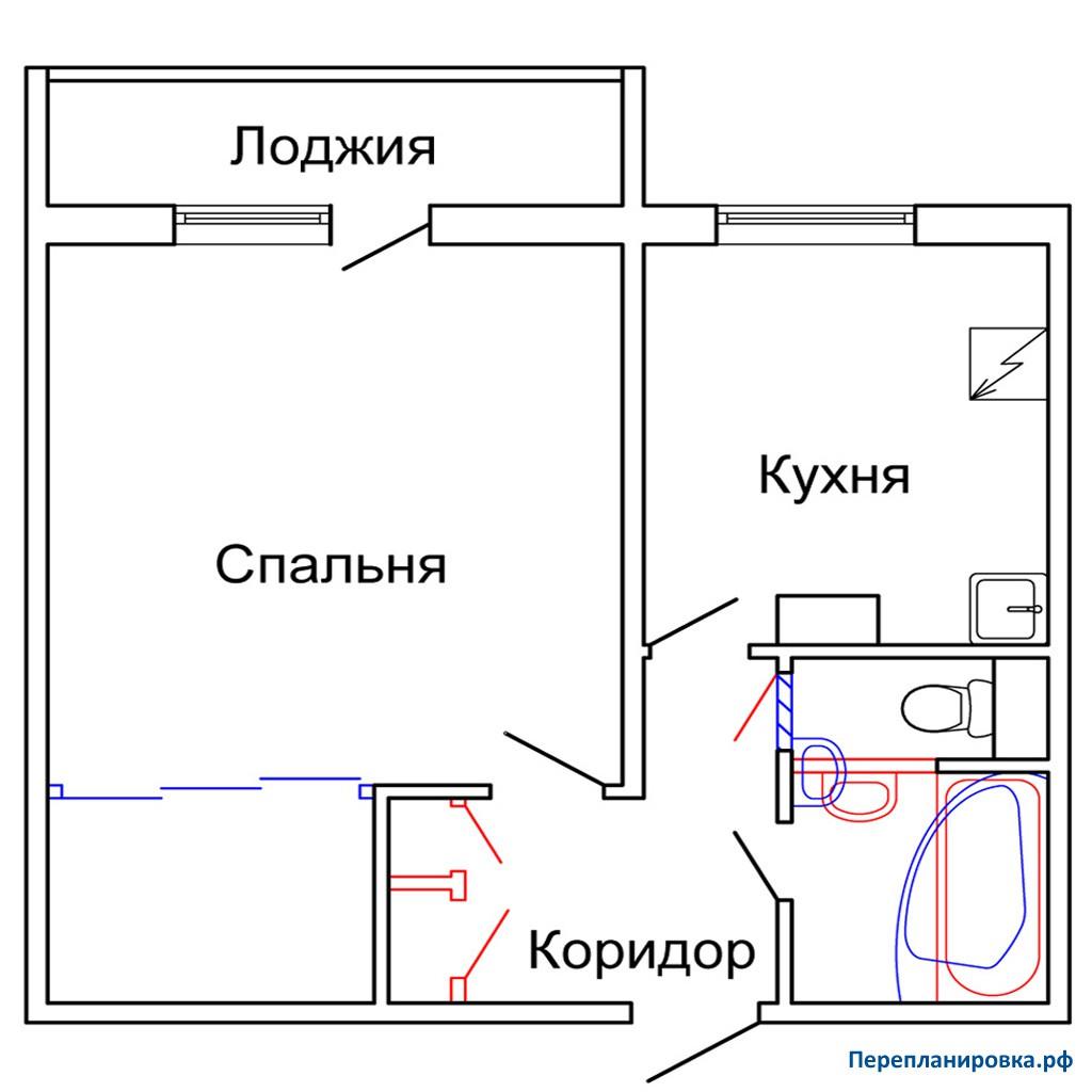 Перепланировка однокомнатной квартиры с лоджией коллекция из.