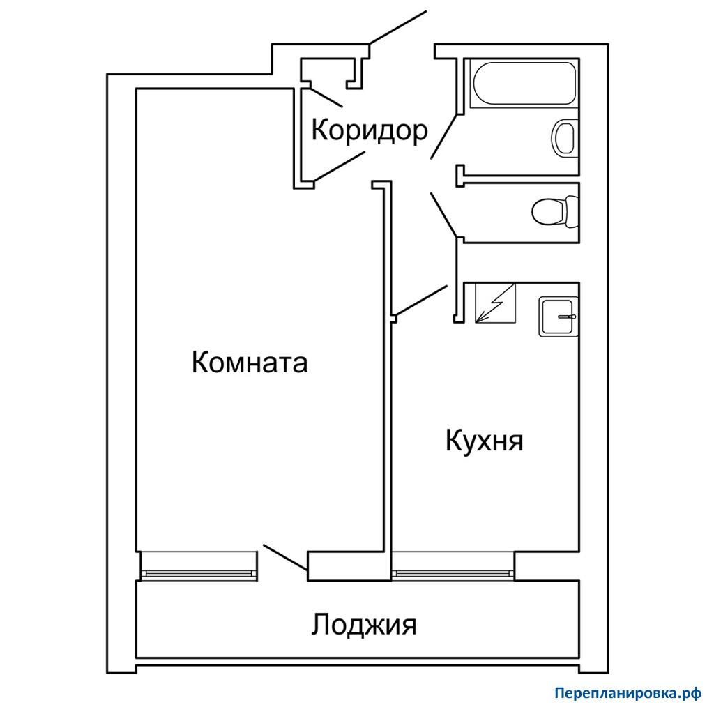 Перепланировка 3 однокомнатной квартиры ii-68, план, фото.