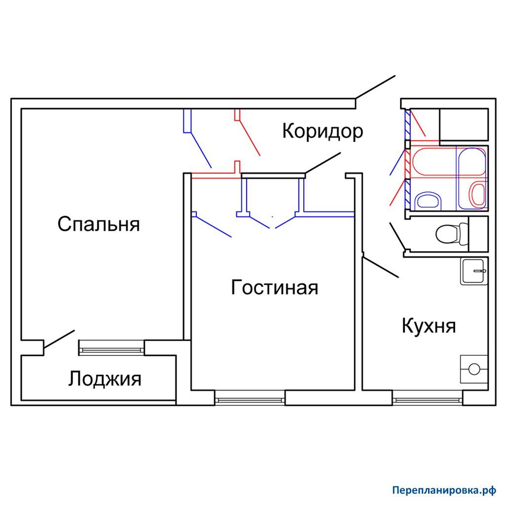 Схема проводки на лоджии
