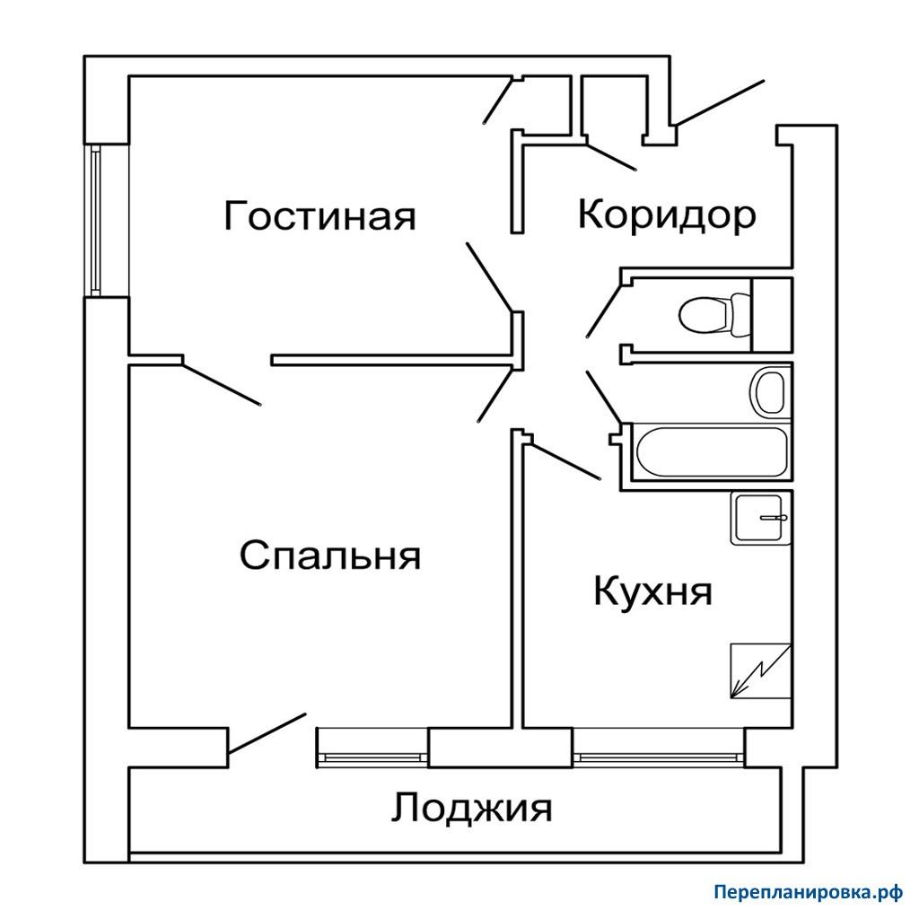 Перепланировка двухкомнатной квартиры и-209а, схема, фото.
