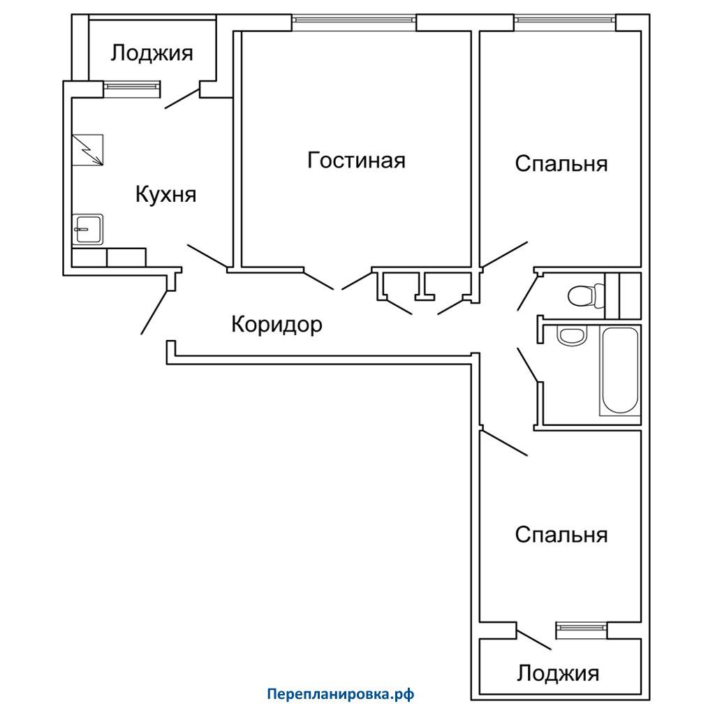 Типовой проект балкона 3 5 метра.