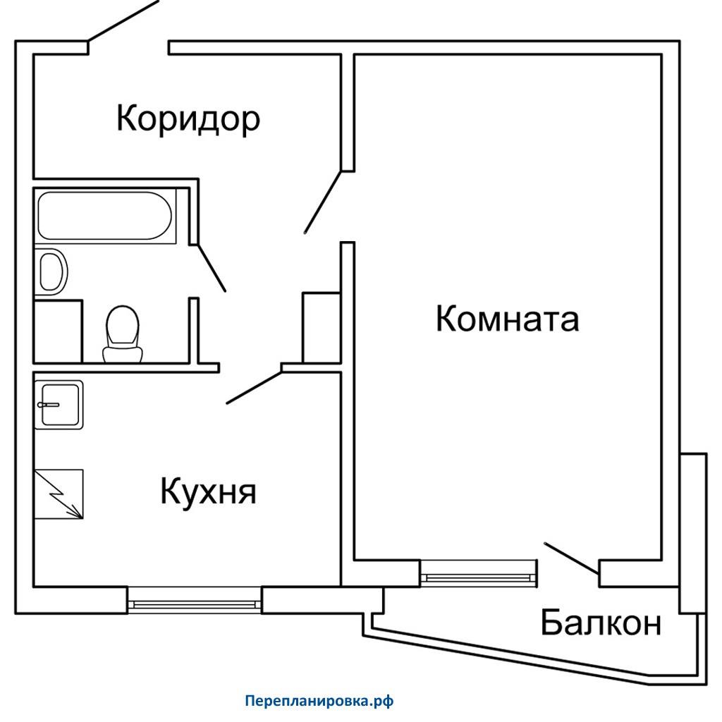 Ремонт балкона однокомнатной квартиры п 44..