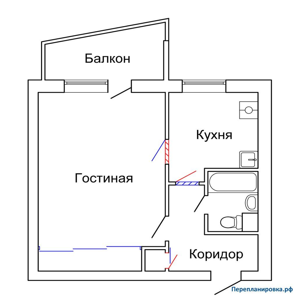 Размер балкона в доме i-515.