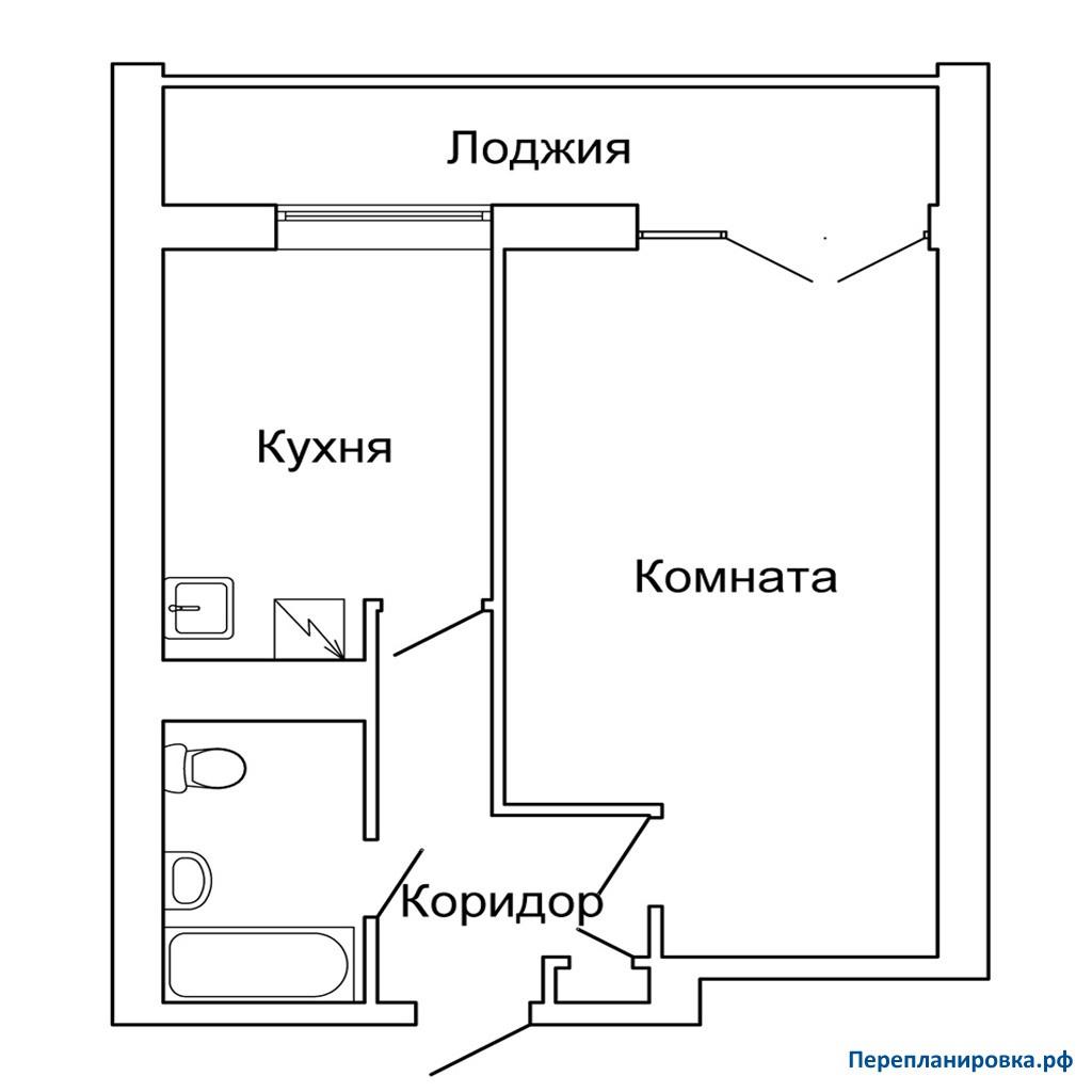 Перепланировка 2 однокомнатной квартиры ii-68, план, фото.